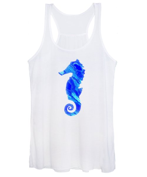 Left Facing Seahorse Bt Women's Tank Top