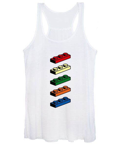 Women's Tank Top featuring the photograph Lego T-shirt Pop Art by Edward Fielding