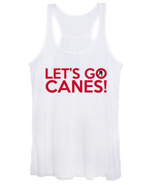 Let's Go Canes Women's Tank Top