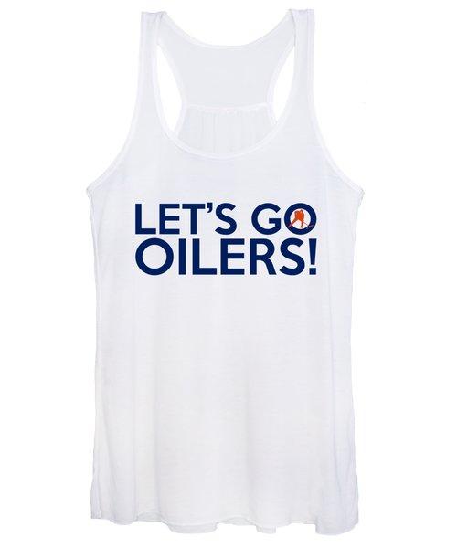 Let's Go Oilers Women's Tank Top