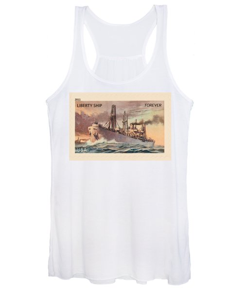 Liberty Ship Stamp Women's Tank Top