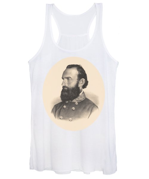 General Stonewall Jackson Portrait - Eight Women's Tank Top