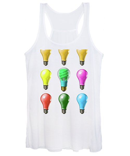Light Bulbs Of A Different Color Women's Tank Top