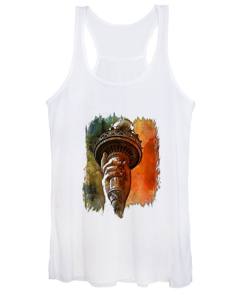 Light The Path Earthy Rainbow 3 Dimensional Women's Tank Top