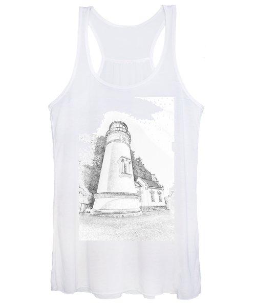Lighthouse In Oregon Women's Tank Top