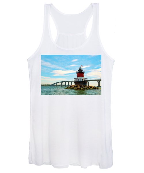 Lighthouse On A Small Island Women's Tank Top
