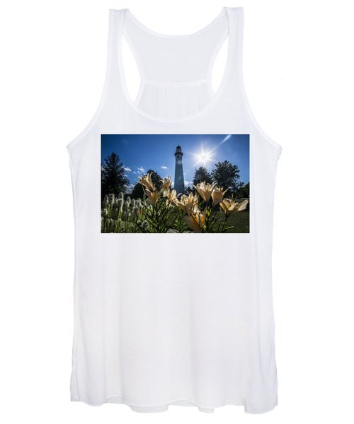 Lighthouse With A Flowery Foreground Women's Tank Top
