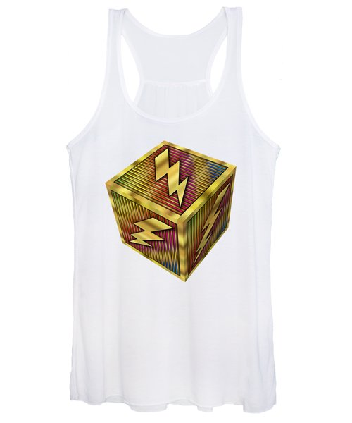 Lightning Bolt Cube - Transparent Women's Tank Top