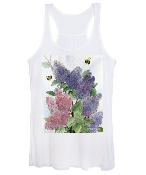 Lilacs And Bees Women's Tank Top