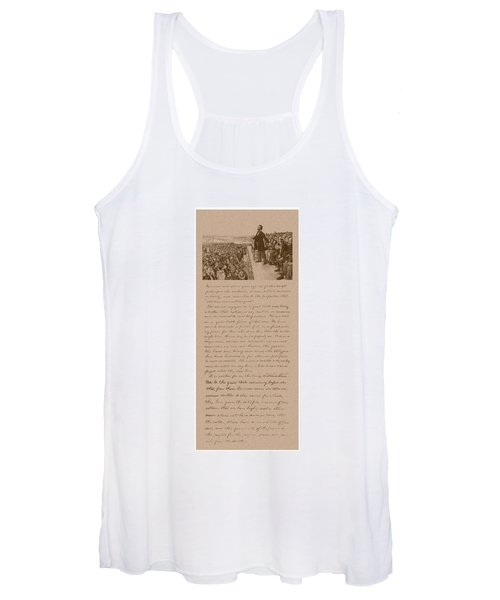 Lincoln And The Gettysburg Address Women's Tank Top