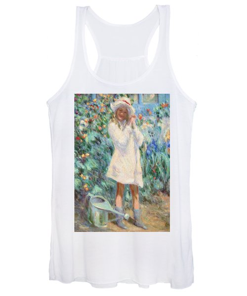 Little Girl With Roses / Detail Women's Tank Top