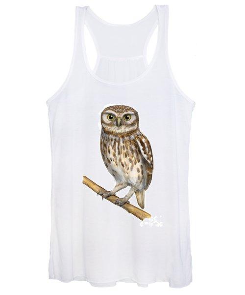 Little Owl Or Minerva's Owl Athene Noctua - Goddess Of Wisdom- Chouette Cheveche- Nationalpark Eifel Women's Tank Top