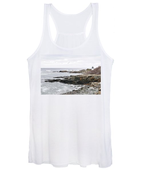 Lobster Point Lighthouse - Ogunquit Maine Women's Tank Top