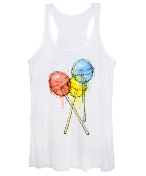 Lollipop Candy Watercolor Women's Tank Top