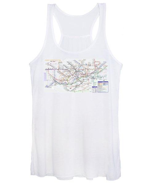 London Underground Map Women's Tank Top