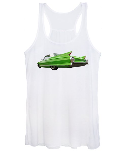 Long Lean And Green - '62 Cadillac Women's Tank Top