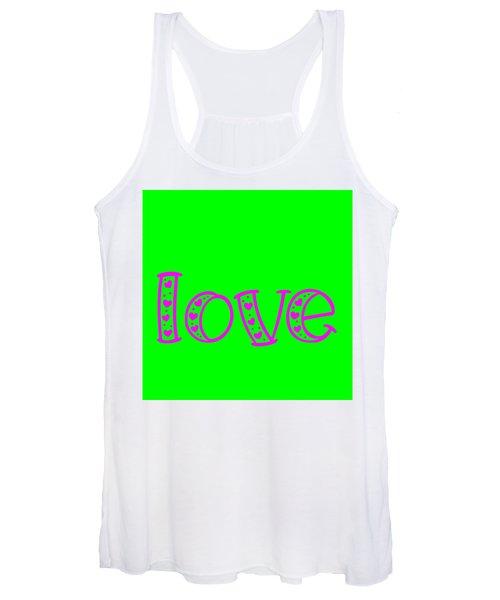 Love In Magenta And Green Women's Tank Top