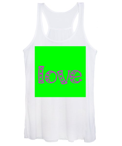 Love In Magenta And Green Women's Tank Top
