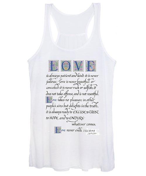 Love Is Always Patient Women's Tank Top