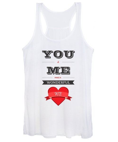 Love Lyrics Quotes Typography Quotes Poster Women's Tank Top