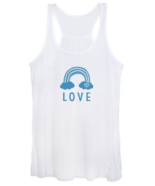 Love Rainbow- Art By Linda Woods Women's Tank Top