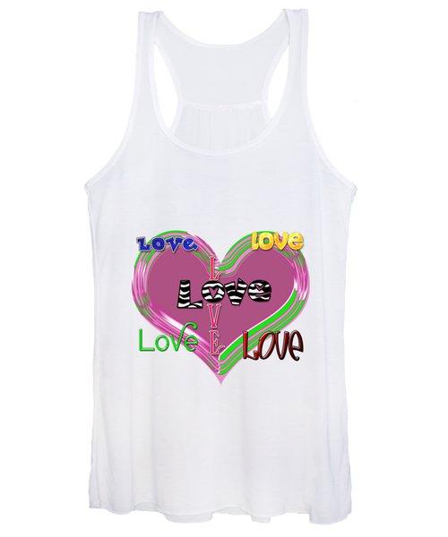 Love T-shirt Clothing Women's Tank Top