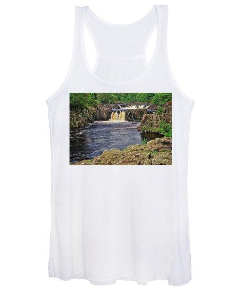 Low Force Waterfall, Teesdale, North Pennines Women's Tank Top