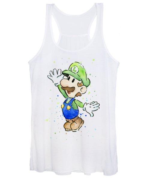 Luigi Watercolor Women's Tank Top