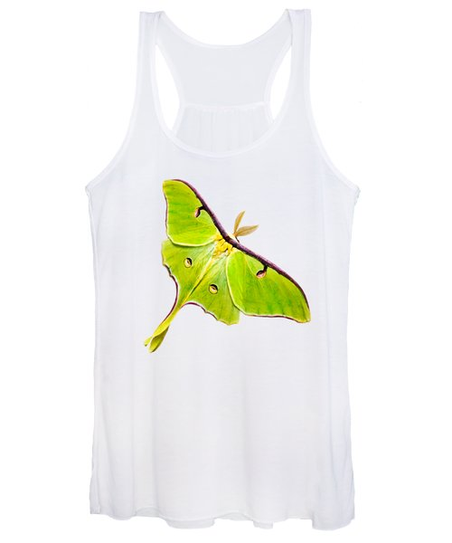 Women's Tank Top featuring the photograph Luna Moth by Christina Rollo