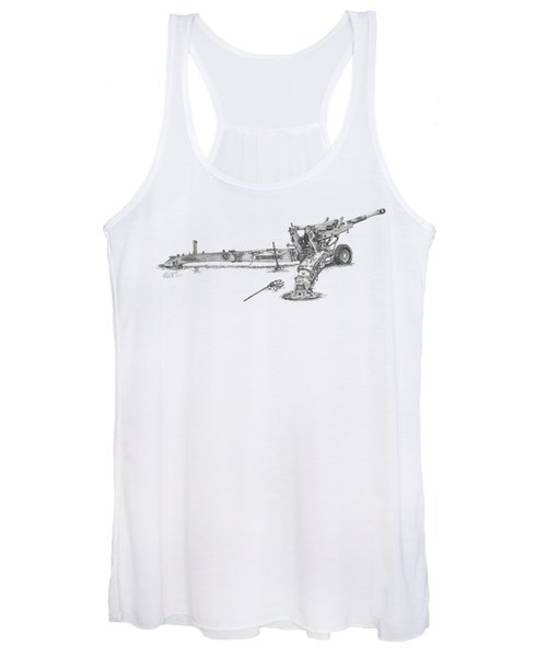 M198 Howitzer - Natural Sized Prints Women's Tank Top