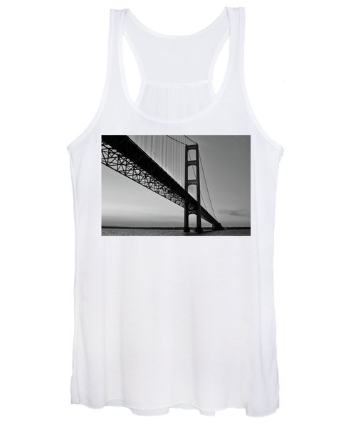 Mackinac Bridge At Sunset Women's Tank Top