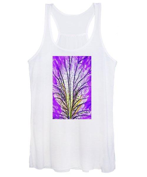 Macro Iris Petal Women's Tank Top