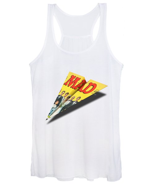 155 Mad Paper Airplane Women's Tank Top