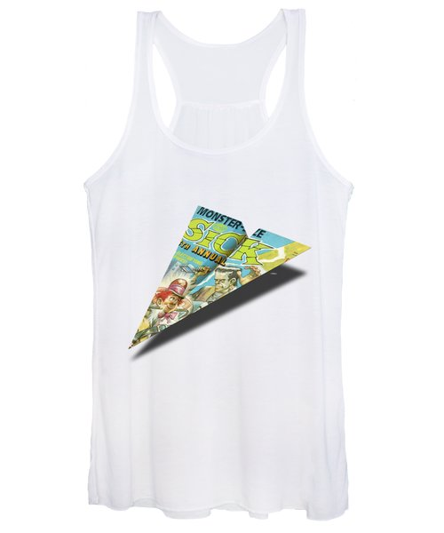 1973 Sick Mad Paper Airplanes Women's Tank Top