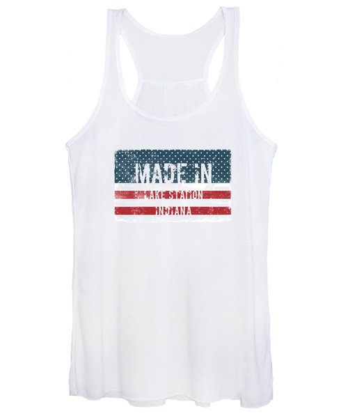 Made In Lake Station, Indiana Women's Tank Top