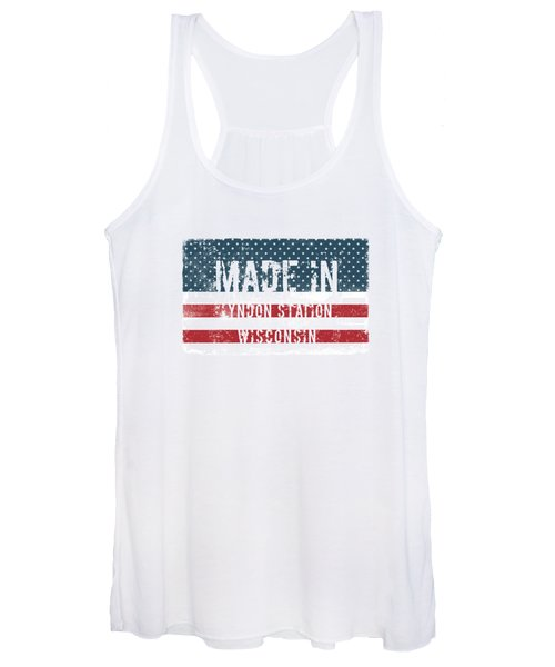 Made In Lyndon Station, Wisconsin Women's Tank Top