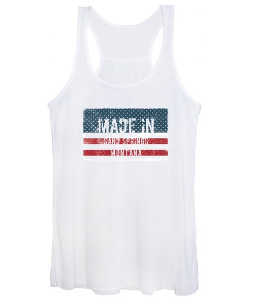 Made In Sand Springs, Montana Women's Tank Top