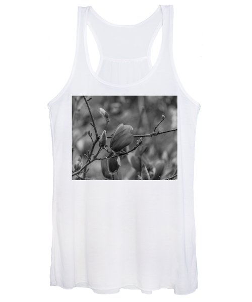 Magnolia Bw Blooms Buds Branches Women's Tank Top