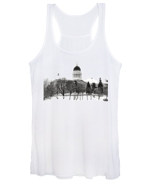 Maine State Capitol In Winter Women's Tank Top