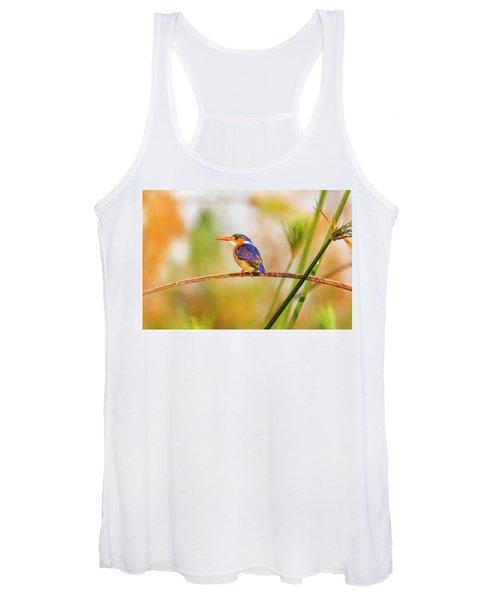 Malachite Kingfisher Hunting Women's Tank Top