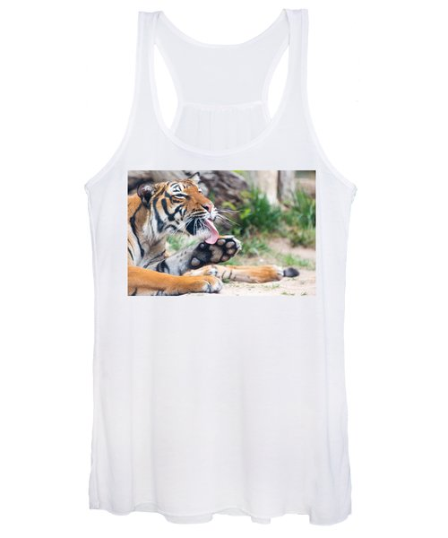 Malayan Tiger Grooming Women's Tank Top