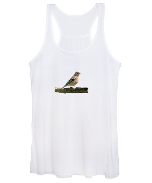 Male Chaffinch, Transparent Background Women's Tank Top