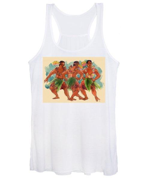 Male Dancers Of Lifuka, Tonga Women's Tank Top