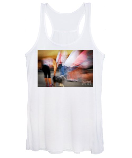 Woman Playing With Dog Women's Tank Top
