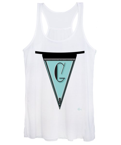 Pennant Deco Blues Banner Initial Letter G Women's Tank Top