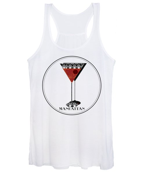 Manhattan Cocktail Pop Art Deco Women's Tank Top