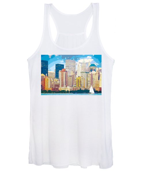 Manhattan Skyline New York City Women's Tank Top