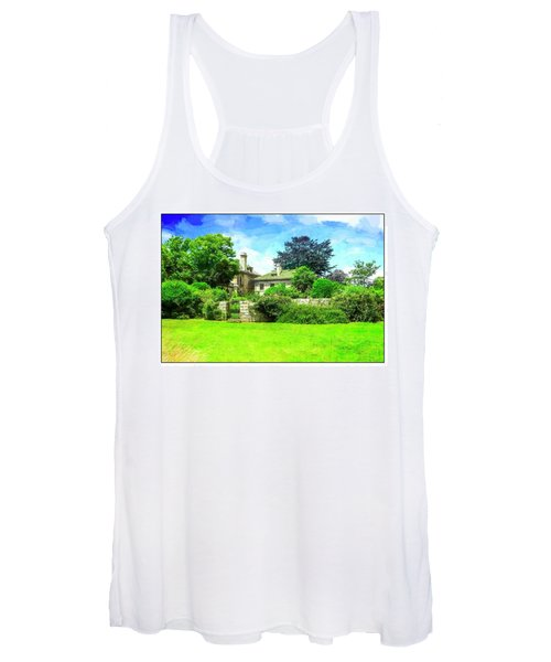Mansion And Gardens At Harkness Park. Women's Tank Top