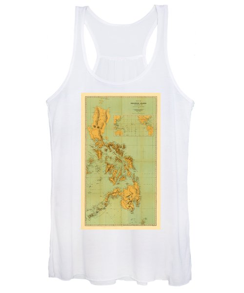 Map Of The Philippines 1898 Women's Tank Top