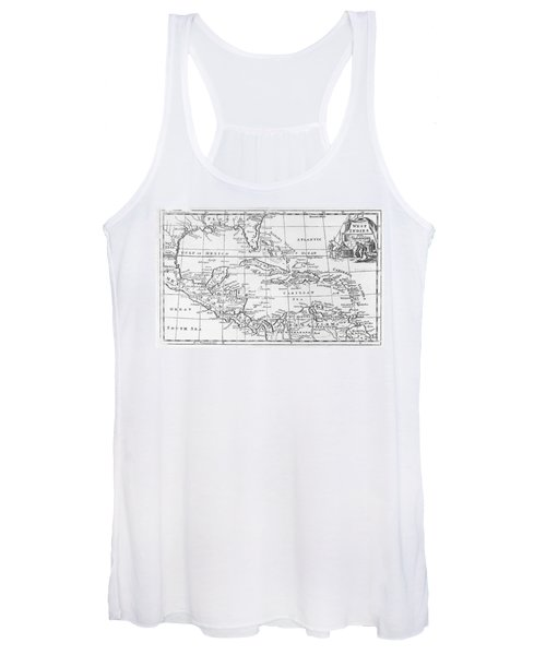 Map Of The West Indies Florida And South America Women's Tank Top
